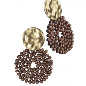 Bead Pod Circle Earrings