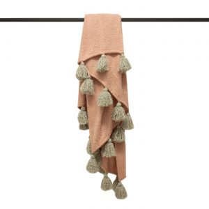 Romilly Blush & Natural Throw