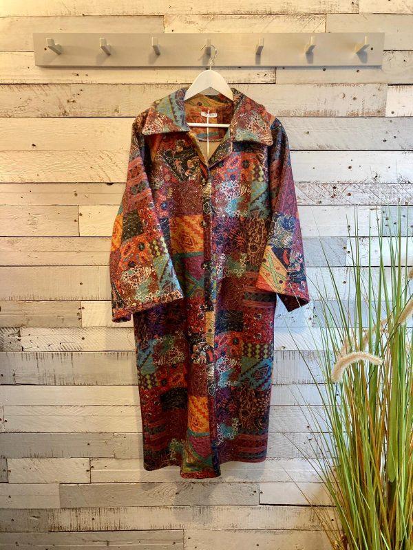 Multi Coloured Patchwork Coat