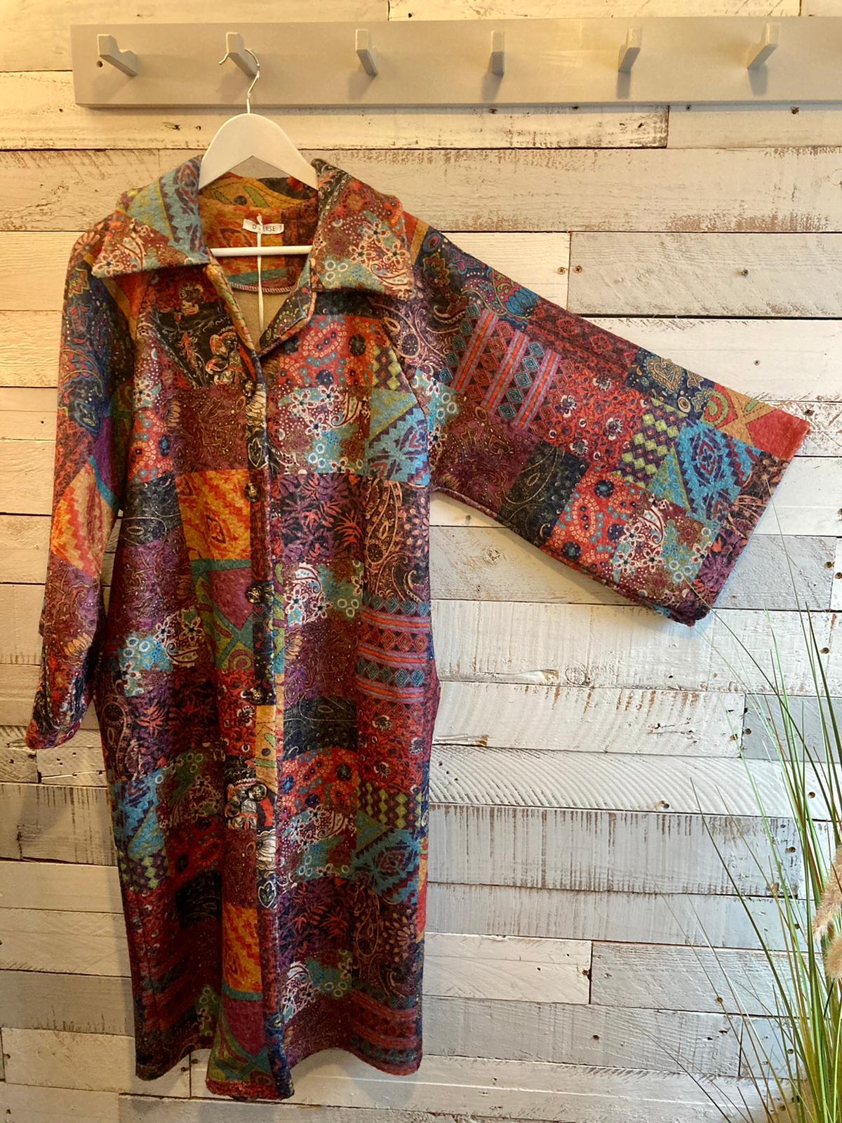 Multi Coloured Patchwork Coat 2