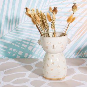 Simple Face Glazed Vase