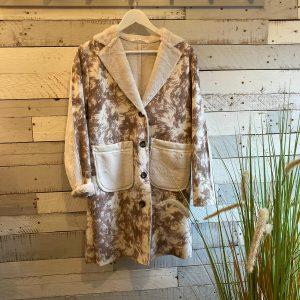 Suedette Taupe Coat