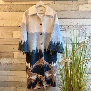 White Woodland Coat