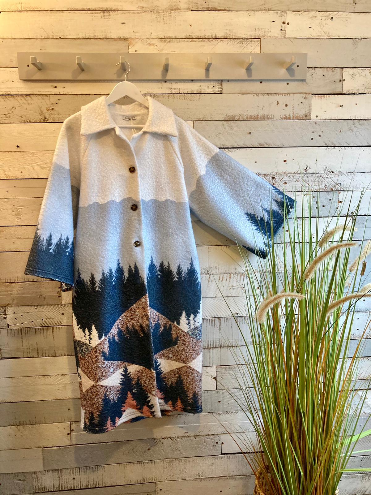 White Woodland Coat 2