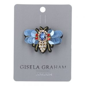 Blue Winged Bee Jewelled Brooch