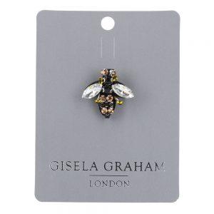 Mini Bee Jewelled Brooch