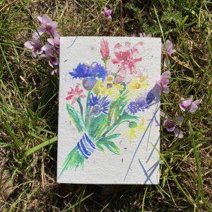 Flower Bouquet Plantable Card