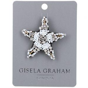 Silver Star Jewelled Brooch