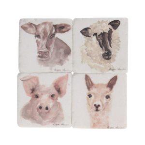 Watercolour Animal Set of 4 Coasters