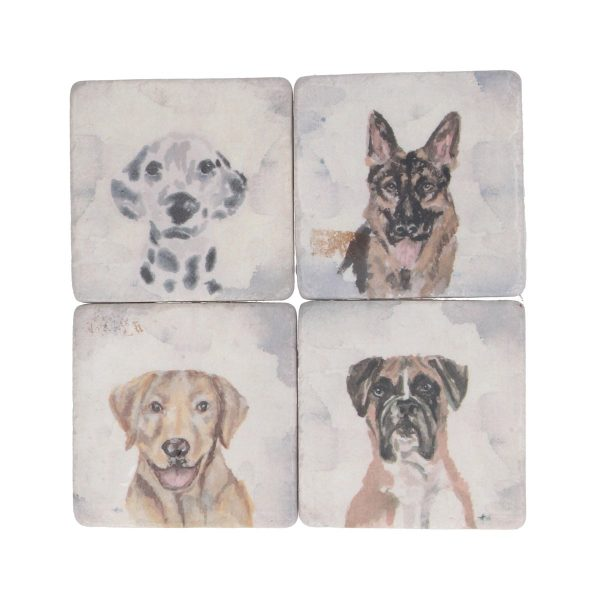Watercolour Dog Set of 4 Coasters