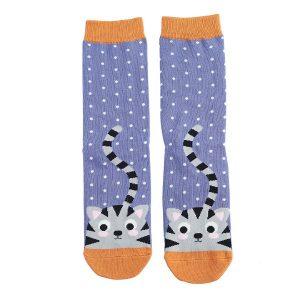 Blue Kitty & Spots Socks