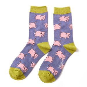 Conflower Piglet Socks