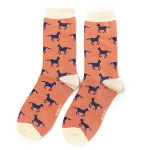 Dusky Pink Horse Socks