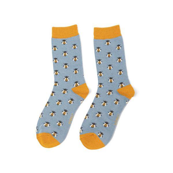 Faded Denim Honey Bee Socks