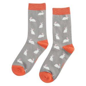Grey Rabbits Socks