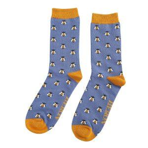 Mr Heron Blue Honey Bee Socks