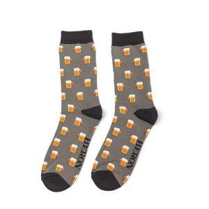 Mr Heron Grey Beer Socks
