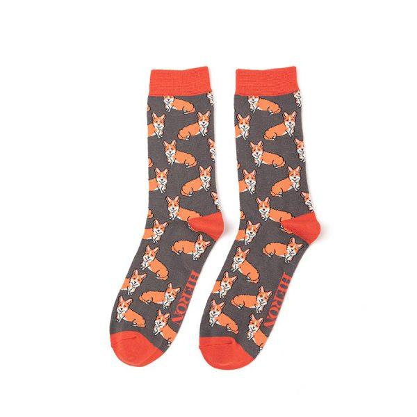 Mr Heron Grey Corgi Socks