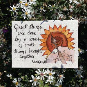 Van Gogh's Steps Plantable Card