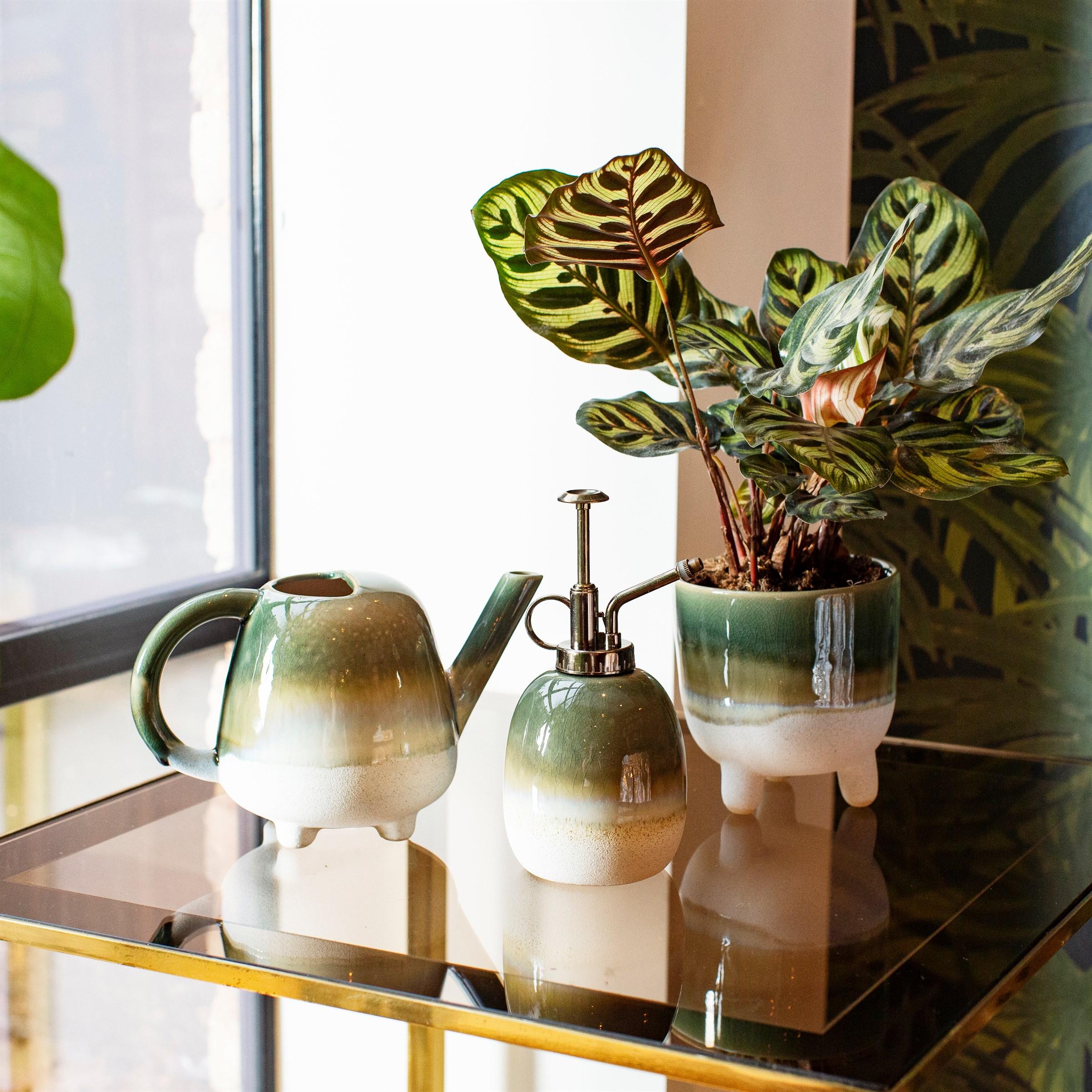 Mojave Glaze Green Large Planter
