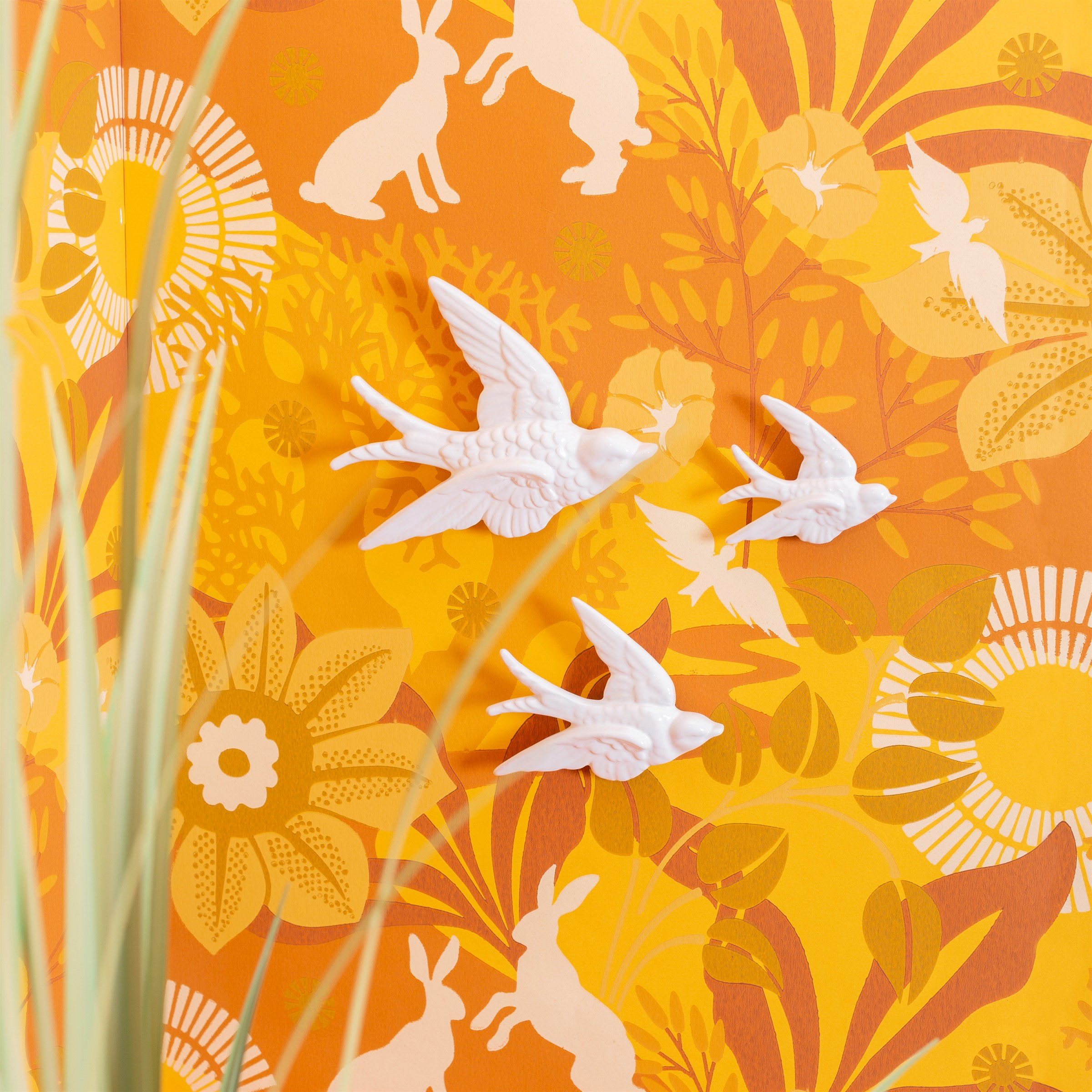 White Swallow Wall Decorations 3
