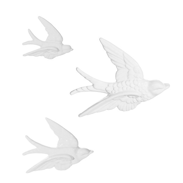 White Swallow Wall Decorations