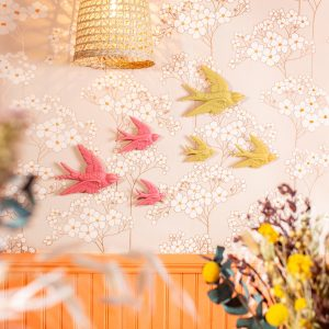 Yellow Swallow Wall Decorations