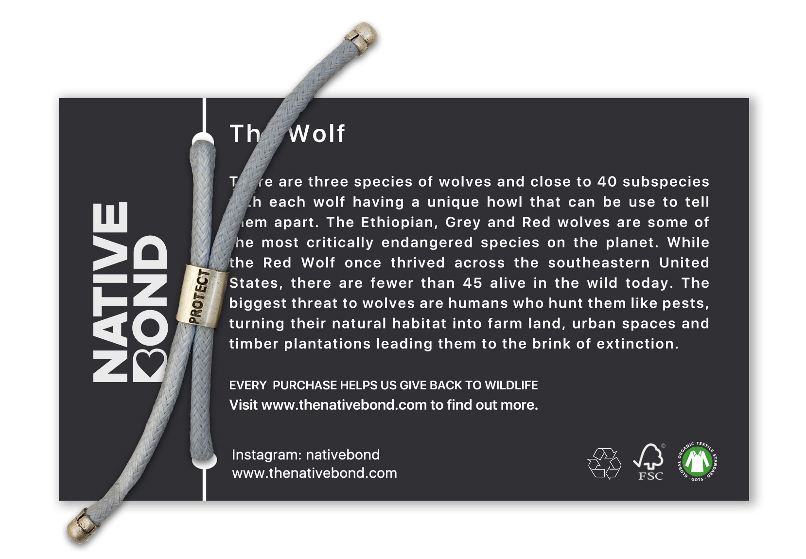 WOLF | BRACELET | B-O-L-D